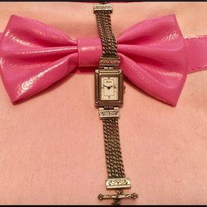 Brighton silver vintage rectangle bracelet watch